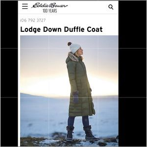 EDDIE BAUER | LODGE | DOWN DUFFLE | WOMEN | COAT